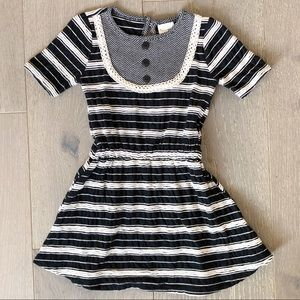 PERSNICKETY Size 3 NWOT Black/Cream Striped Dress